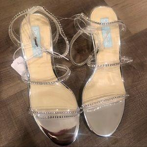 New Silver Betsey Johnson Woman's Heels